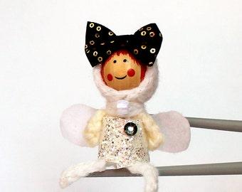 Fashion fairy MochiQtie Amigurumi - Mochi size crochet mini toy doll - Crochet Amigurumi