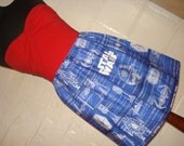 Star Wars Blueprint Design Mini Skirt - High Waisted Ladies Mini Skirt - Handmade & Ready to Ship