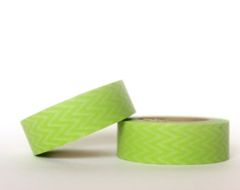 Light Green Horizontal Chevron Washi Tape