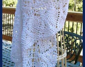 Crochet Pineapple Wedding Shawl