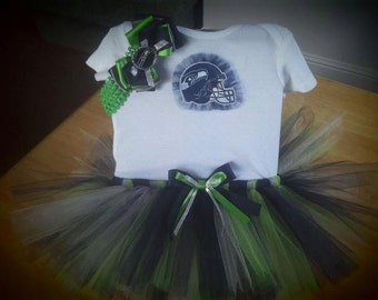 Seattle Seahawks inspired tutu outfit