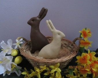 Primitive Faux  Easter Chocolate Bunny