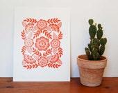 Block Printed Art Print