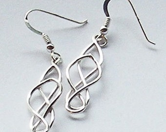 Sterling Silver Celtic Style Earrings by Arcturus Jewellery