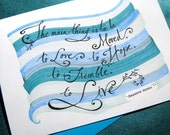 Graduation Card. Inspirational Card. Rodin Quote. College Graduate, Art School Graduate Card