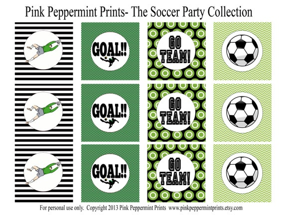 New Instant Download The Soccer Party Collection Printable
