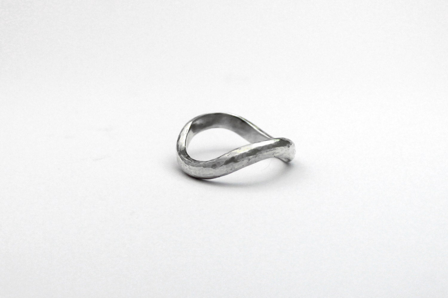 Infinity wedding ring band in sterling silver symbol of