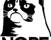 Grumpy Cat Nope Die Cut Vinyl Sticker - Buy two Get one FREE - Tard The Grumpy Cat Sticker
