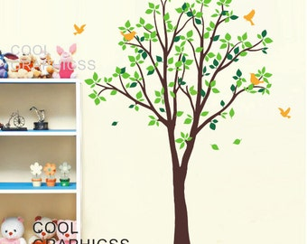 Adorable Spring tree - Vinyl Wall Decal Sticker Art, Mural,Wall Hanging