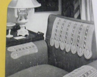 Vintage Knitting Pattern Book for Chair Sets