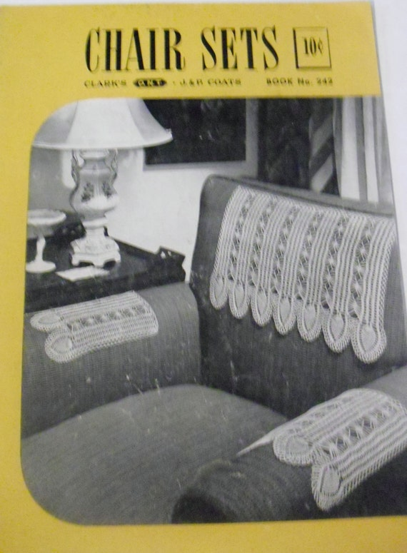 Vintage Knitting Books : Vintage knitting pattern book for chair sets from