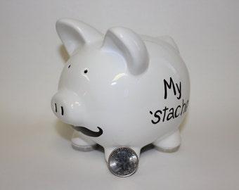 My 'Stache mustache piggy bank