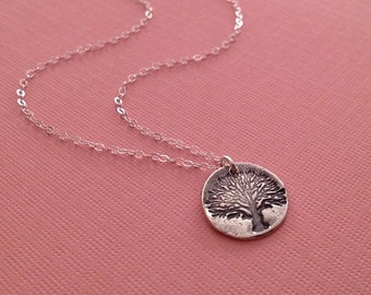 Tree of Life Necklace in Sterling Silver -Silver Tree of Life Necklace