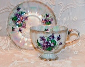 Lusterware Collectible Teacup with Violets
