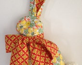 Modern Folksy Bunny 100% Cotton Designer Print Vintage Buttons Heather Bailey