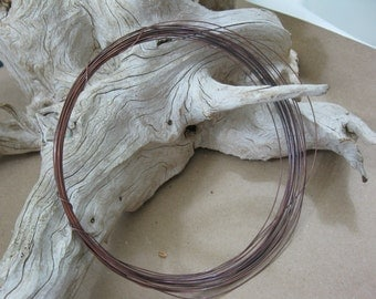 COPPER WIRE 24 Gauge, Hand Oxidized, Choose Length