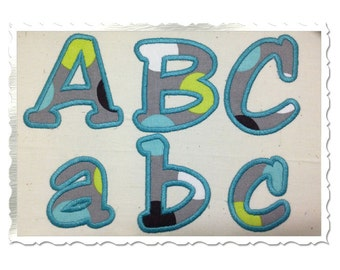 Jester Applique Machine Embroidery Font Alphabet - 4 Sizes