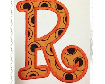 Boyz R Gross Applique Machine Embroidery Font Monogram Alphabet - 4 Sizes