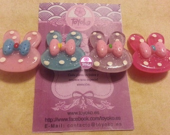 """On Sale!! Brooch """"Bunny-bow"""" (several colors)"""