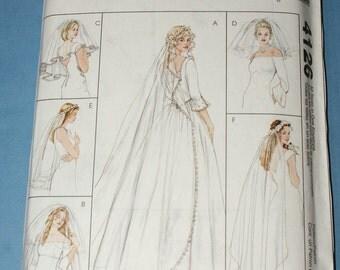 New McCalls Accessories  Wedding Veils Pattern M4126 All Sizes