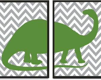 Kids Dinosaur Art Print, T-Rex, Nursery Wall Decor, Kids room art, modern nursery