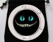 Alice in Wonderland Cheshire Cat Evil Grin Purse Hook Bag Holder Trendy Cool