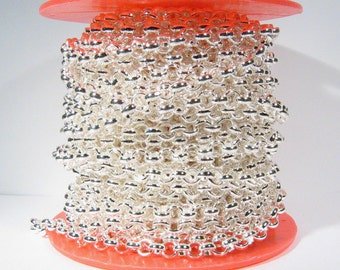 10ft 7.0mm Rolo Chain - Silver Plated - 7.0mm Links - CH50