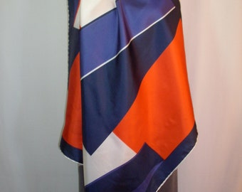 Vintage Ciziano Red/White/Blue Silk Scarf