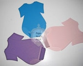 Baby Onesie Top Fold Cards with Bottom Flap Closure - Perfect for Inivitations, Decorations and more - 12 per pack - You pick your colors