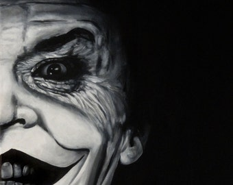"Joker - Jack Nicholson - Art Print Reproduction 10"" x 12"" - Signed by Artist!"