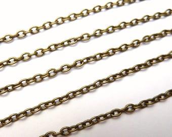 10 meters chain, 3x2mm, bronze