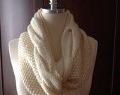 RESERVED-Custom Order for AStone, 100% wool, big cabled infinity scarf