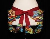 Multicolored Candy Coating Bum Ruffle Belly Dance Hip Scarf