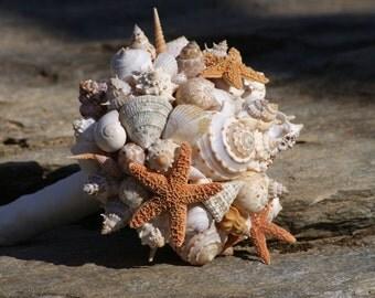 Seashell Bouquet, Bridal Bouquet, Beach Bouquet, Tropical Bouquet, Destination ,Seaside , Made to Order