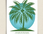 Wedding Guest Book Alternative - The Palmwik - A Peachwik Interactive Art Print - 75 guest sign in - Destination Wedding