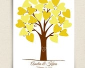 Guest Book Alternative - The Heartwik - A Peachwik Signature Tree Art Print - 25 guest sign in - Perfect for Weddings & Baby Showers