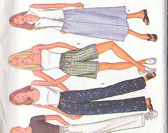 Butterick 3031 Sewing Pattern Slacks, Skirts, Shorts Size 14-16-18 Fast & Easy