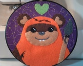 Star Wars Fan Art - Ewok Love Embroidery Hoop