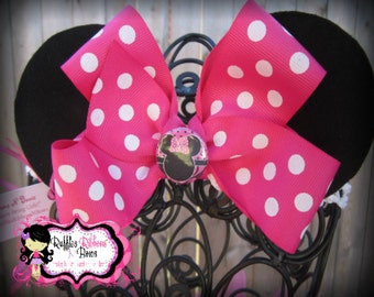 Minnie Mouse Ears, Minnie Ears, Minnie Mouse, Mickey Mouse Ears, Mickey Ears, Minnie Headband, Mouse Ears, Disney Ears, Minnie Mouse Party