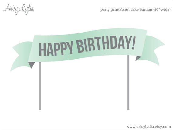 Items Similar To Custom Cake Banner: Printable Cake Topper