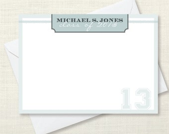 Stationary - masculine - set of 10 notecards