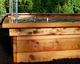 Raised Bed Frame With Seats Plan