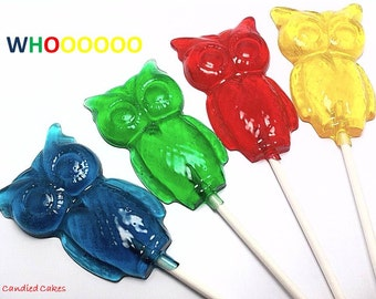 10 LARGE OWL LOLLIPOPS - Perfect Party Favor