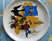 Vintage Maine Souvenir Plate