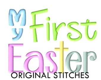 My First Easter Machine Embroidery Digital Design File 4x4 5x7