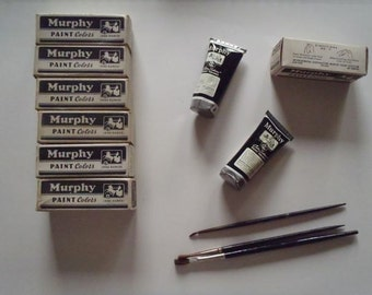 Vintage Set of Three 1 oz Murphy Paint Colors 1940s