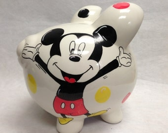 Personalized Piggy Bank Mickey Mouse