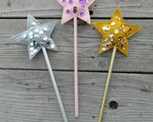 Princess Wand, Star Wand, Fairy Wand, Party Favor, First Birthday Party Gift, Baby Shower Decor, Baby Shower Gift, Toddler Party Gift,