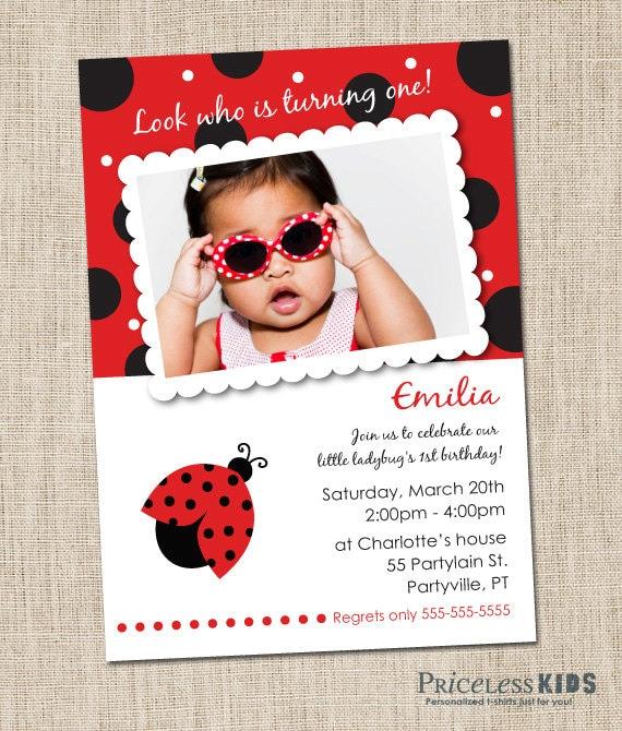 Ladybug Birthday Invitations Printable Ladybug Invitations