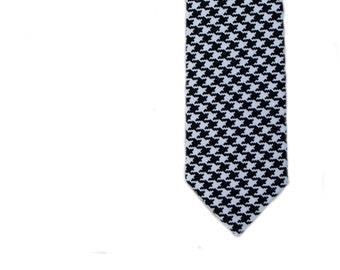 Houndstooth Skinny Tie